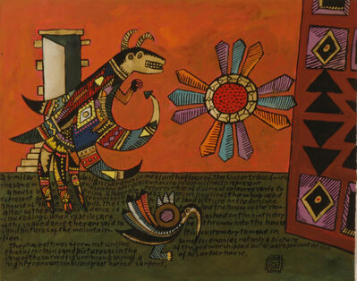 Alan Davie, 'Hopi Studies No. 3', 1990