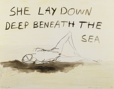 Tracey Emin, 'She lay deep down beneath the sea', 2011