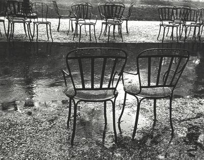 Ilse Bing, 'Chairs, Paris, Champs Elysses', 1931