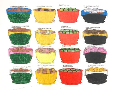 Kenya Hanley, 'All the Rasta Bowls', 2018