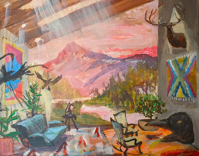 Johnny DeFeo, 'Mount Sneffels Cabin with Magpie Fireplace and Bird Lamps', 2020