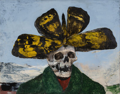Miles Cleveland Goodwin, 'Skeleton Wearing a Butterfly Hat', 2018