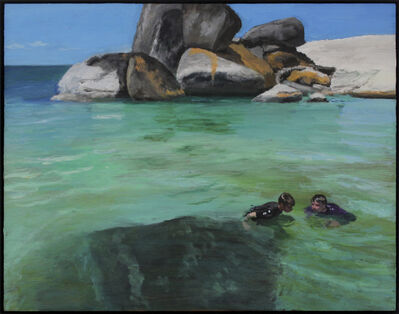 Clare Menck, 'Two teens near penguins  ', 2018