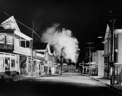 O. Winston Link, 'Officer Painter Patrols Main Street, Stanley, Virginia', 1956