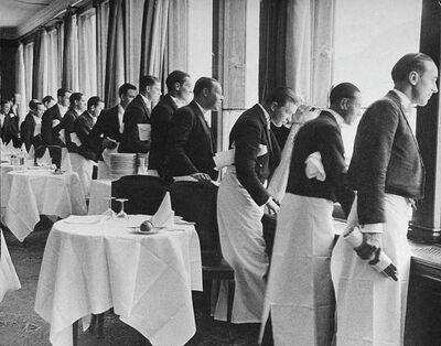 Alfred Eisenstaedt, 'Waiters watching Sonja Henie Skate, St. Moritz', 1932