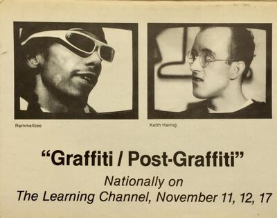 Keith Haring, 'Basquiat, Keith Haring 1980s graffiti announcement (Graffiti/Post Graffiti) ', 1984