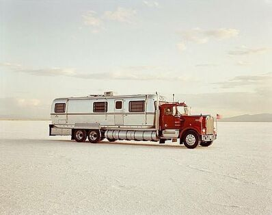 Richard Misrach, 'World's fastest mobile home, 96 m.p.h., Bonneville Salt Flats, Nevada', 1992