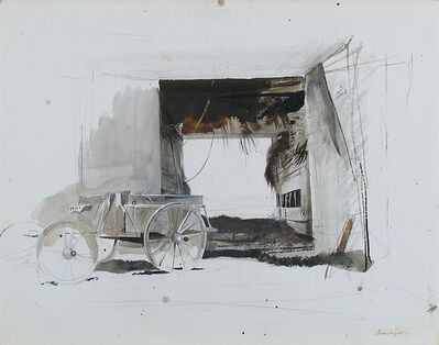 Andrew Wyeth, 'Hayloft (The Old Campbell Farm in North Waldoboro)', 1961