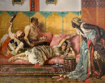 Ferdinand Victor Leon Roybet, 'The Favorite of the Harem', ca. 1880