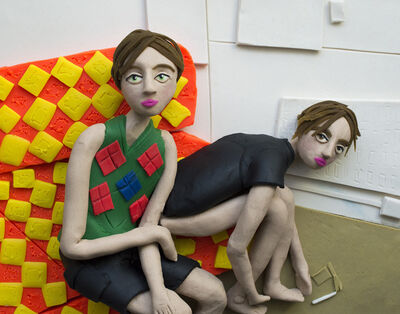 Eleanor Macnair, 'Original photograph: England's Dreaming (Rosemary and George on the sofa) August 1993 by Corinne Day  rendered in Play-Doh ', 2019