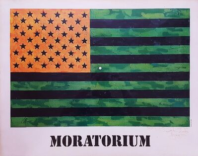 Jasper Johns, '(Moratorium) Flag Poster', 1969