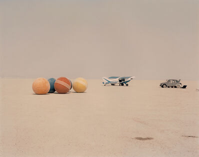 Richard Misrach, 'Desert Croquet #3 (Balls, Plane, Car), Black Rock Desert, Nevada', 1987