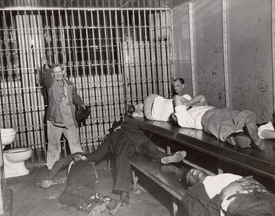 Weegee, 'Drunk Tank', 1950s