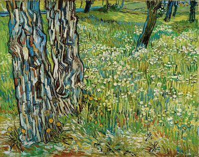 Vincent van Gogh, 'Tree trunks in the grass', late April 1890