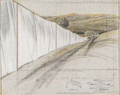 Christo and Jeanne-Claude, 'SONOMA COUNTRY – RUNNING FENCE', 1975