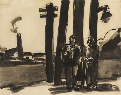 Josef Herman RA, 'Miners', N.D.