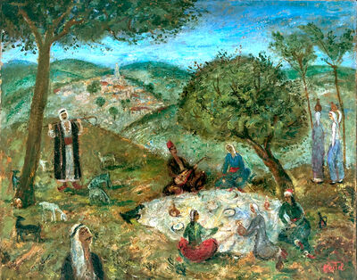 Moshe Castel, 'Meal on the Grass', ca. 1920
