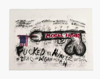 Judith Bernstein, 'FUCKED BY NUMBERS', 2013