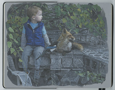 Kevin Peterson, 'Waiting (With Fox)', 2019