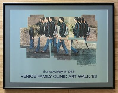 "David Hockney, 'SIGNED ""Gregory Walking"" Poster from Venice Family Clinic Art Walk', 1983"