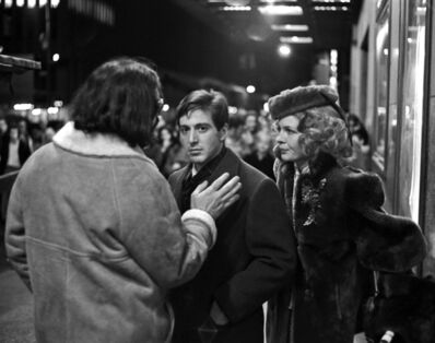 """Harry Benson, 'Francis Ford Coppola, Al Pacino, and Diane Keaton on the set of """"The Godfather""""', 1971"""