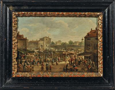 Dutch School, 'Market Square'