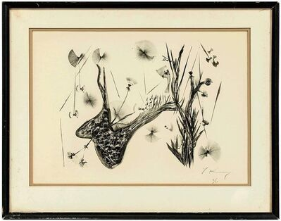 Yehoshua Kovarsky, 'Whimsical Abstract Flowers, Lithograph, Signed, Ed. 6 of 30', Mid-20th Century