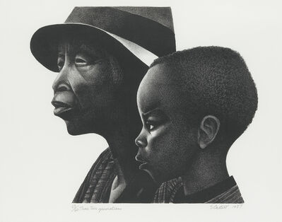 Elizabeth Catlett, 'Two Generations', 1979