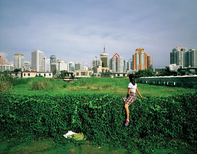 Weng Fen, 'Sitting on the Wall-Haikou', 2005