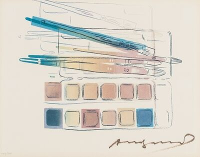 Andy Warhol, 'Watercolor paint kit with brushed', 1982