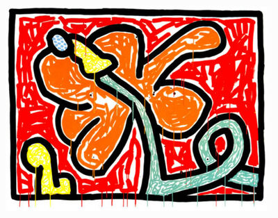 Keith Haring, 'Flowers #5', 1990