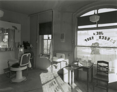 George Tice, 'Joe's Barber Shop, Paterson, New Jersey', 1970