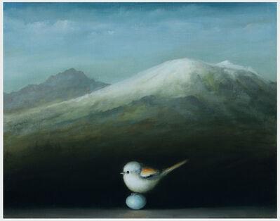 David Kroll, 'Mountain Landscape (Snow Bunting)', 2019