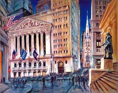 Kamil Kubik, 'New York Stock Exchange at Night '