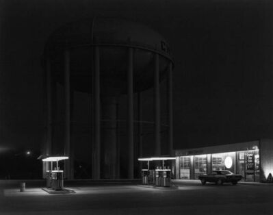 George Tice, 'Petit's Mobil Station', 1974