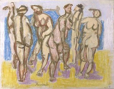Fausto Pirandello, 'Bathers', 1971