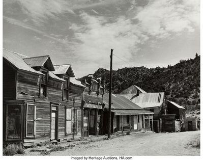 Todd Webb, 'Silver City, Ida. and Cow Skull on Barn, Santa Fe, N.M.', 1960; 1966