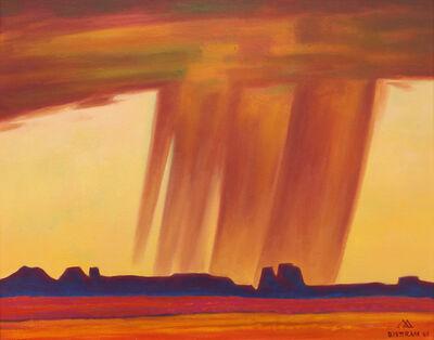 Emil Bisttram, 'Red Rain', 1969