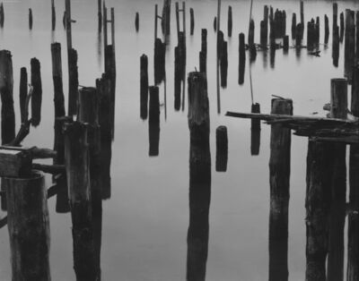 Brett Weston, 'Wharf Piles and Fog, Oregon', 1968