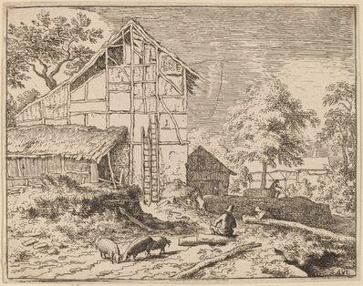 Allart van Everdingen, 'Cottage with Two Ladders', probably c. 1645/1656