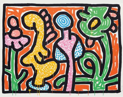 Keith Haring, 'Flowers (4)', 1990