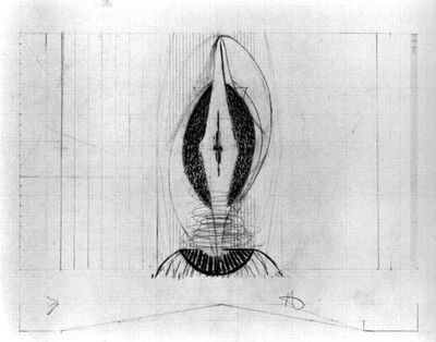 Naum Gabo, 'Study for a Fountain', 1950s