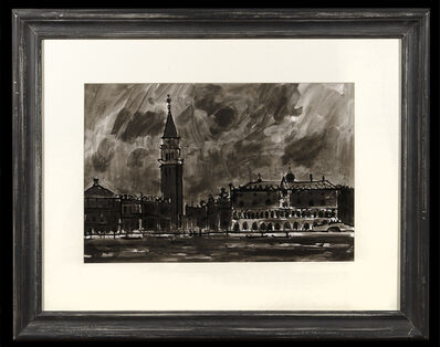 Kyffin Williams, 'The Doges Palace and Grand Canal Venice', 1970-1990