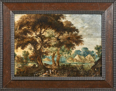 Kerstiaen De Keuninck, 'Untitled (wooded landscape with animals)'