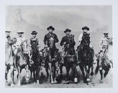 Russell Young, 'Magnificent Seven, Revolver White & Black on Paper', 2017