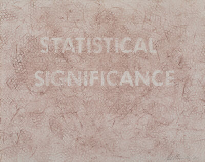 Ed Ruscha, 'Statistical Significance', 1981