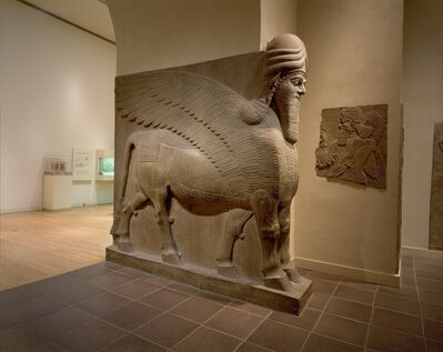 Unknown Assyrian, 'Human-headed winged bull (lamassu)', ca. 883–859 B.C.