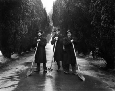 Evelyn Hofer, 'Gravediggers, Dublin', 1966