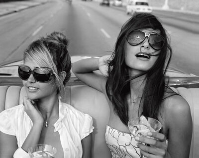 Michael Dweck, 'Giselle Karina Bacallao Moreno and Rachel Valdes going for a spin on the Malecon, Habana, Cuba', 2010