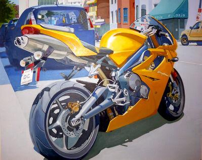 Joey P. Manlapaz, 'Struttin' (Yellow Cycle)'
